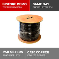 CAT6 250m Solid Copper Outdoor Ethernet Network Cable 23AWG Gigabit PoE CCTV IP