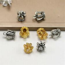 2/10Pcs Vintage Antique Alloy Crown Pendant Necklace Crafts DIY Jewelry Making