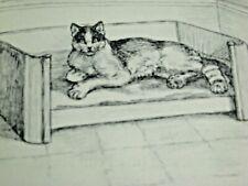 Snowshoe Paws Margaret Johnson Illus 1949 Hc Vintage Kids Cat story Kittens Dog