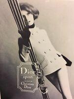 1964 Christian Dior Air France Bugat Photo Vintage Ski Clothing Print Ad Skiing