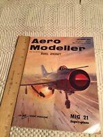 Vintage Airplane Model Magazine Aero Modeller Magazine 1966