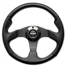 Momo Steering Wheel Jet 320mm Black Leather with carbon accents
