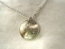 Russian Double Eagle coin necklace-beautiful detailed feathers