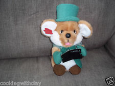 VINTAGE 1988 COLLECTIBLE PLUSH DOLL TOY CHRIS MOUSE APPLAUSE CHRISTMAS CHOIR