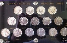 Complete 1941-1945 PDS Mercury Silver Dime Collection Nice HIGH BU MS condition