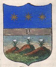 1865 Stemma di Prata di Principato Ulteriore (Avellino),  cromolitografia