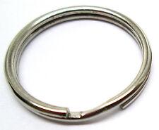 "Lot 100 Key Rings 20 mm 3/4"" Split Ring Silver SpringTempered Top Quality"