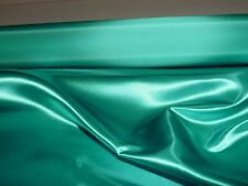 """BRIDAL SATIN FABRIC PEACOCK/ TURQUOISE  60"""" WIDE BTY  WEDDING COSTUME FORMAL"""