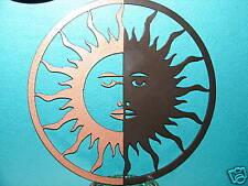 SUN MOON ECLIPSE METAL WALL DECOR ART GARDEN PATIO YARD
