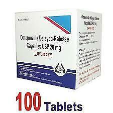 Omeprazole 20mg  OTC Acid Re flux Heart Burn Reducer 100 Capsule (EXP-02/2022 )
