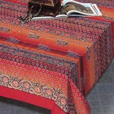 Handmade Cotton Good Luck Elephant Paisley Tapestry Tablecloth Spread 88x104