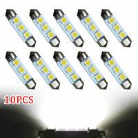 10x 39mm 239 Number Plate Reading LED Xenon White Festoon Canbus Light Bulbs Kit