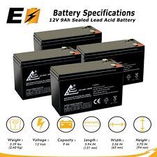 4 Packs: 12V 9Ah sla backup battery for APC UPS RBC5