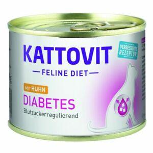 Kattovit Diabetes Regulates Blood Sugar Fibre Against Obesity Cat,12 x 185g cans