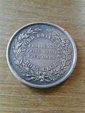 "Solid Sterling Silver Oxford University Bateau Club prix médaille ""quatre avirons"""
