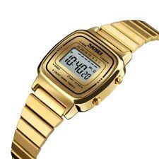 Women Lady Girl LED Digital Quartz Wrist Watch Sports Waterproof Stainless Steel