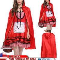 Women's Chrismas Party Fancy Dress Little Red Riding Hood Cosplay Costume Outfit
