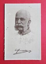 AK aus Seide Kaiser Franz Josef von Österreich  RAR   ( 32685