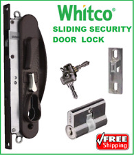 Whitco Leichhard Sliding Security Screen Door lock  Includes cylinder 2 keys