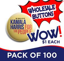 Kamala Harris Wholesale Button Set of 100 (HARRIS-100PACK-001)