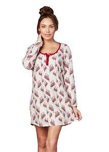 BedHead Pajamas French Dancers Stretch L/S Henley Nightshirt - 1264-SH7-7531