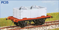 LNER 'Conflat S' Container Wagon - OO gauge - Parkside PC35 - free post