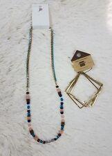 2 JL Women's Beaded Necklace & Braclet Set Fashion Costume Jewlery Turquiose