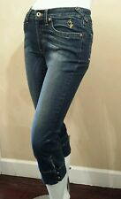 Baby Phat Womens Low Rise Capri Cropped Blue Denim Jeans Size 3