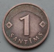 Latvia 1 Santims 1992. KM#15. One Cent Penny coin. First Year Issue.