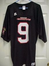 ORLANDO PREDATORS 9 AFL Arena Football Black Nylon Jersey L Russell Athletic