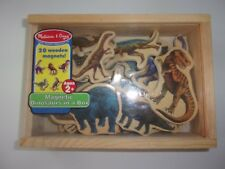 Melissa & Doug Magnetic Dinosaurs in a Box Complete 20 Wooden Magnets