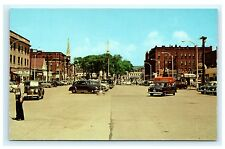 Widest Paved Main Street in the World Keene New Hampshire NH Postcard Curteich