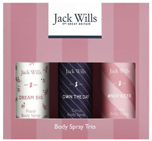 Jack Wills Body Spray Trio 100% Authentic Perfect Xmas Gift!!