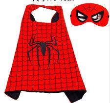 Cartoon hero spider man Superhero Cape for 70cm cape + mask # 3