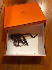"Hermes  Birkin Kelly Herbag  Large Empty Box With Ribbon 14""x11x""4 1/2"""