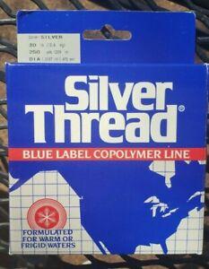NIP Silver Thread Blue Label Copolymer Fishing Line 30 lb 250 yards Silver Color
