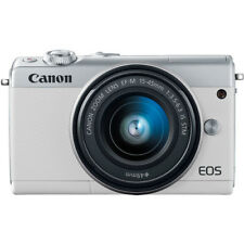 Canon EOS M100 24.2 MP Mirrorless Digital Camera with 15-45mm Lens (White)