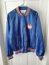 Vintage Chalk Line BSU Boise State University Satin Jacket Broncos Blue XL EUC