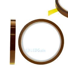 10mm 1.0cm X 33m/100ft Kapton Tape High Temperature Heat Resistant Polyimide