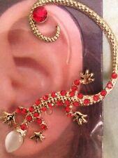USA Gekko Lizard Earring Ear Cuff Wrap Stud Dragon Orange Bohemian Brides Maid