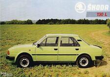 Motokov skoda implantada š 130 l turismos car coche brochure folleto para 1985