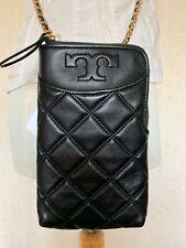Tory Burch Savannah Phone Crossbody Leather Bag Black Retail