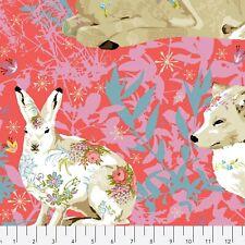 Land Art Pollen by Odile Bailloeu Free Spirit Cotton Quilt Fabric PWOB018.ROSE