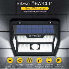Blitzwolf Solar PIR Motion Sensor Waterproof 62 LED Garden Wall Lamp Light