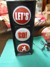 "Great ALABAMA CRIMSON TIDE Electric Light Lamp.......""Let's Go A"""