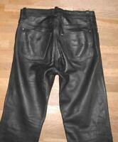 """WOW!!! Herren- LEDERJEANS / Biker- Lederhose in schwarz ca. W32"""" /L33"""""""