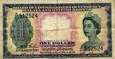 03 Malaya and British Borneo P1a 1 Dollar 1953