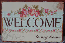 Welcome To My Home Metal Hanging Tin Sign Home Decor Painting Wall Plaque Poster