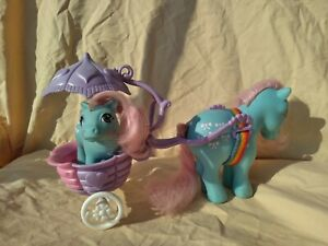 My Little Pony g1 Baby Bowtie Carriage Pram Buggy MLP Euro UK Exclusive NO PONY