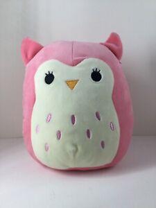 "Squishmallow Francesca 8"" Pink Owl Plush Soft Cute Kellytoy Stuffed Animal"